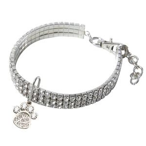 Other - STUNNING Austrian crystal dog collar bling paw M